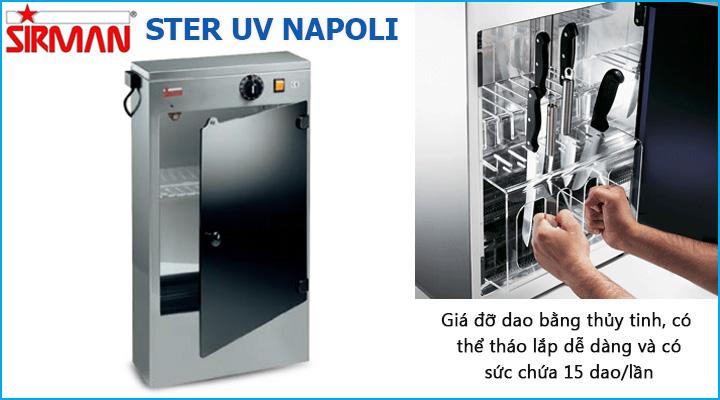 Giá đỡ dao của máy tiệt trùng Sirman Ster UV Napoli