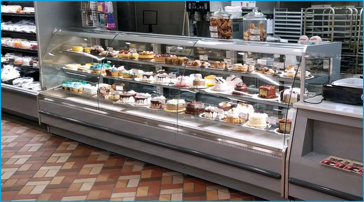 Mâu tủ trưng bày bánh kem