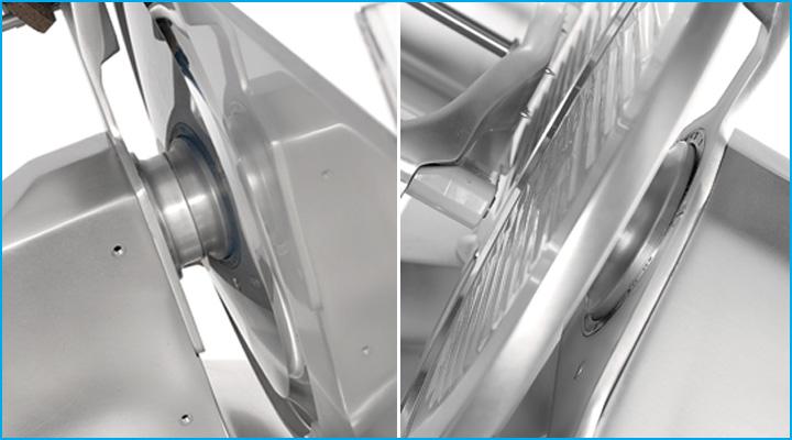 Máy cắt thịt Sirman Mirra 220C có động cơ hoạt động mạnh mẽ