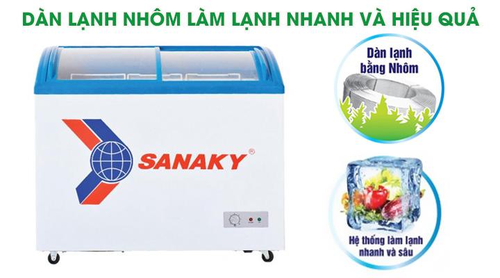 Tủ đông VH-682K sử dụng dàn lạnh nhôm làm mát nhanh