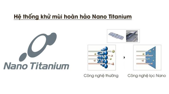 Hệ thống kháng khuẩn khử mùi hoàn hảo với màng lọc Nano Titanium