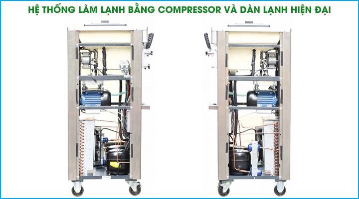Hệ thống làm lạnh hiện đại của máy làm kem BJ7260P