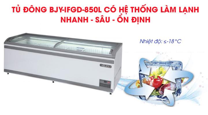 Hệ thống làm lạnh nhanh sâu của tủ đông Berjaya BJY-IFGD-850L