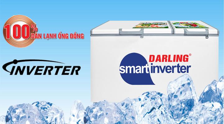 Tủ đông mát Darling Inverter DMF-7699WSI-4 sử dụng hệ thống làm lạnh hiện đại