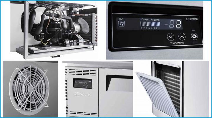 Bàn mát Turbo Air KUR9-1 có hệ thống làm lạnh hiện đại
