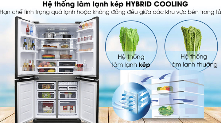 Hệ thống làm lạnh kép Hybrid Cooling làm lạnh nhanh và phân bổ nhiệt đều.