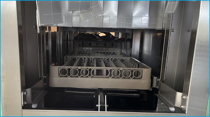 Hệ thống rửa của máy rửa chén Inoksan thông minh và hiện đại