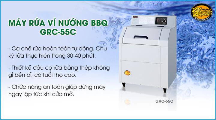 Máy rửa vỉ nướng BBQ GRC-55C trang bị hệ thống rửa hiện đại và tự động hoàn toàn