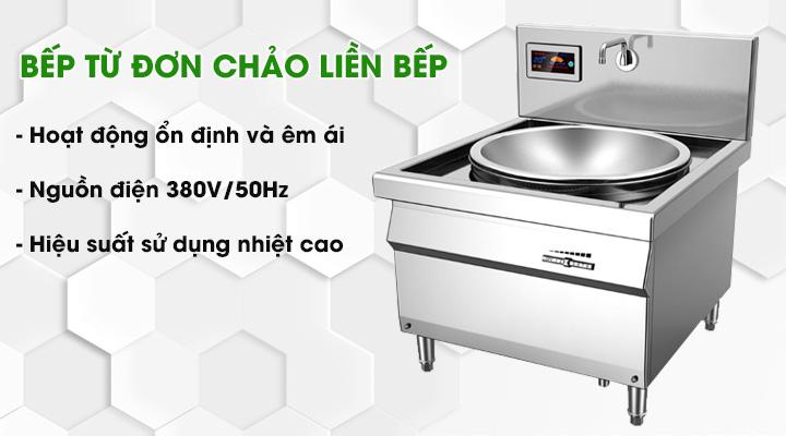 Bếp từ đơn chảo liền bếp có hiệu suất sử dụng nhiệt cao