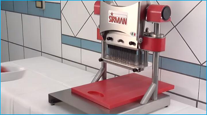 Hình ảnh thực tế của máy làm mềm thịt Sirman T-Rex