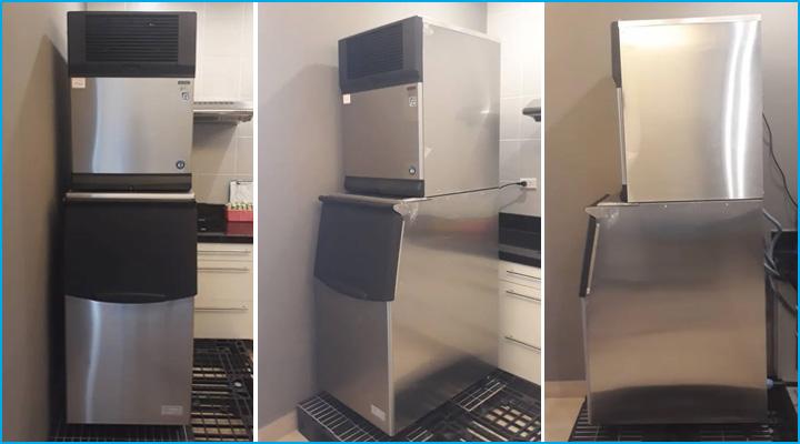 Thiết kế máy làm đá viên IM-220AA gọn gàng, bền đẹp và sang trọng