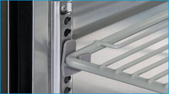 Kệ chứa bàn mát KUR15-2 có thể thay đổi khoảng cách dễ dàng