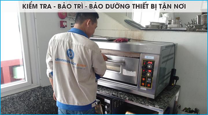 Lên lịch kiểm tra bảo trì bảo dưỡng thiết bị trong suốt thời gian thuê lò nướng