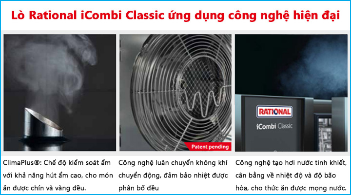 Lò Combi ICC sử dụng các công nghệ nướng hấp hiện đại