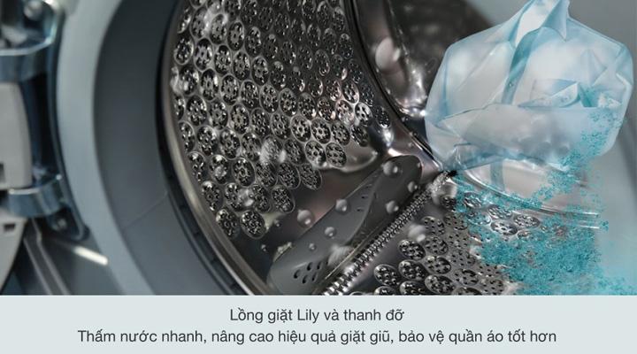 Máy giặt Electrolux EWF9523ADSA có lồng giặt được làm bằng thép không gỉ có độ bền cao