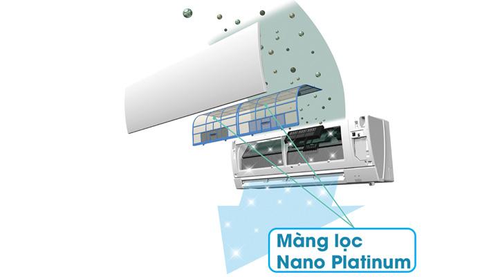 Màng lọc Nano Platinum lọc sạch bụi bẩn, vi khuẩn và khử mùi hôi