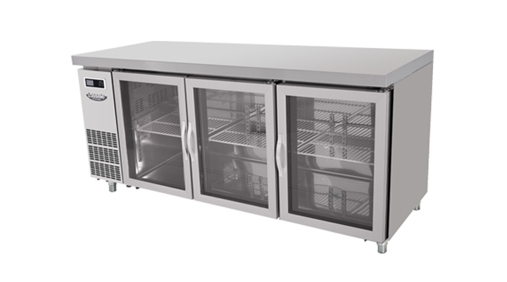 Mẫu bàn mát 3 cánh kính Lassele LGRT-3B-1800