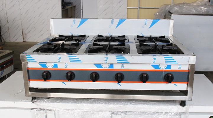 Mẫu bếp âu 6 họng có đánh lửa tự động