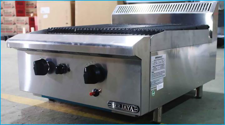 Mẫu bếp nướng than đá nhân tạo Berjaya CRB2B-17