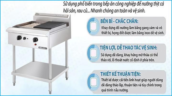 Mẫu bếp nướng than đá nhân tạo Berjaya CRB2BFS-17