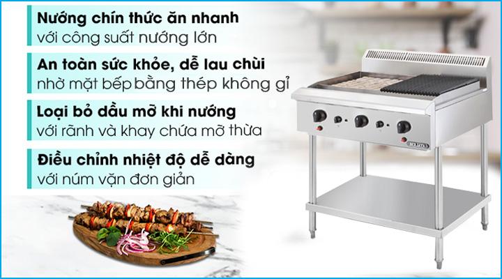 Mẫu bếp nướng than đá nhân tạo Berjaya CRB3BFS-17