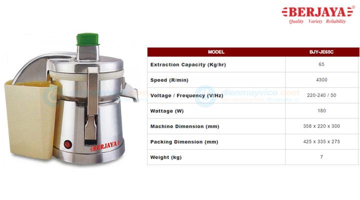 Mẫu máy ép công nghiệp Berjaya BJY-JE65C