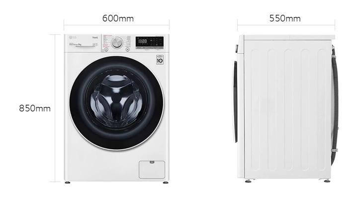 Mẫu máy giặt LG FV1409S4W 9 kg