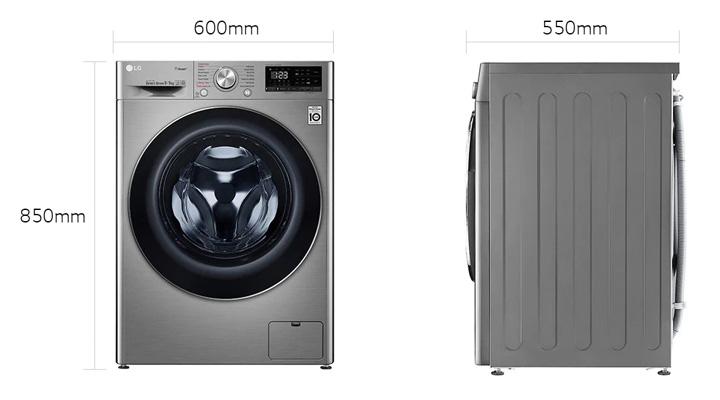 Mẫu máy giặt sấy LG FV1409G4V