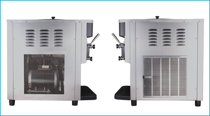 Máy làm kem Donper D828 có thiết kế nhỏ gọn, cấu tạo chắc chắn, chất liệu bền đẹp