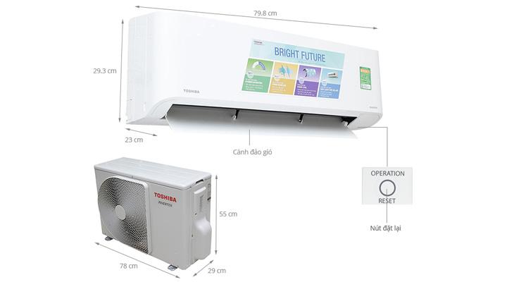 Mẫu máy lạnh treo tường Toshiba RAS-H18BKCV-V