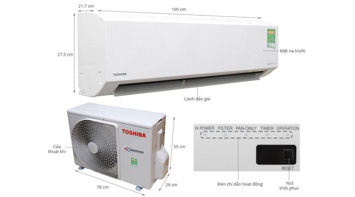 Mẫu máy lạnh treo tường Toshiba RAS-H18G2KCV-V (2.0 Hp)