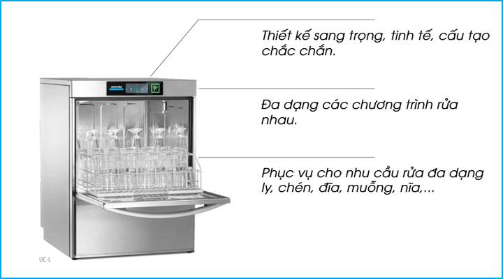 Mẫu máy rửa chén quầy bar Winterhalter UC-L