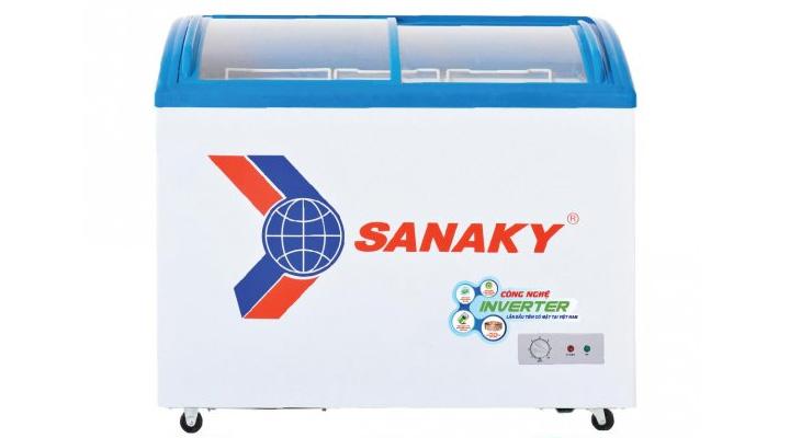 Mẫu tủ đông kính cong Inverter Sanaky VH-2899K3 211 lít
