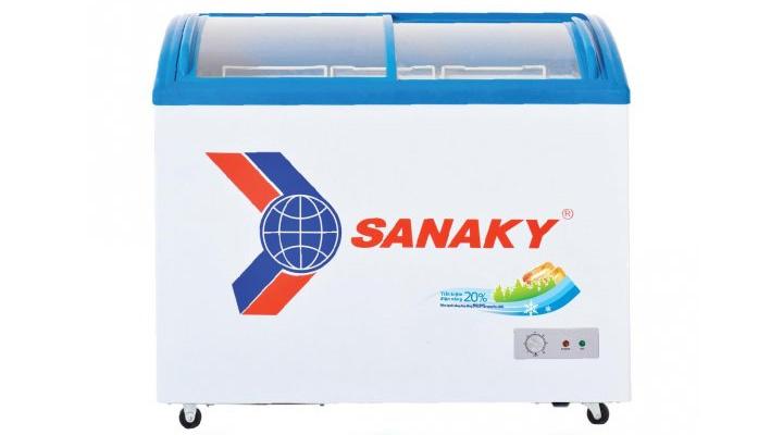 Mẫu tủ đông kính cong Sanaky VH-6899K 437 lít