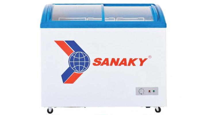 Mẫu tủ đông kính cong Sanaky VH-382K 260 lít