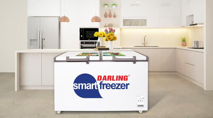 Mẫu tủ đông mát Darling DMF-3699WS-4