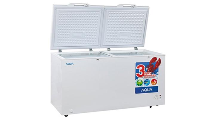 Mẫu tủ đông nắp dở Aqua AQF-C520