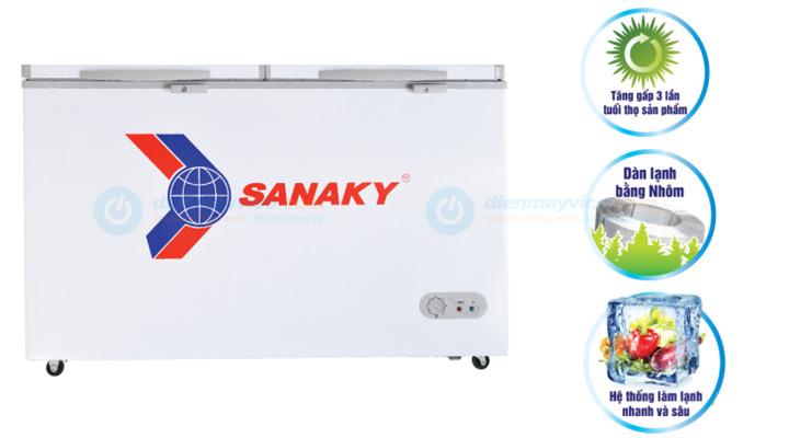 Mẫu tủ đông nắp dở Sanaky VH-868HY2