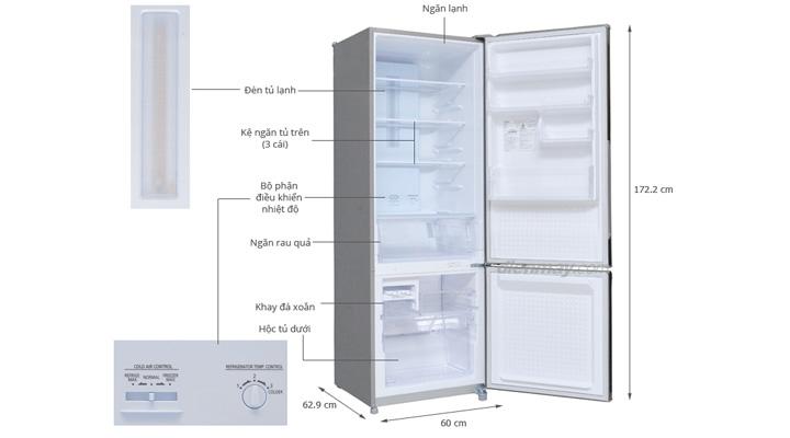 Mẫu tủ lạnh Panasonic NR-BU344MSVN