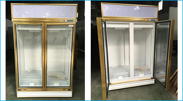 Mẫu tủ mát 2 cánh kính Leejan LJ-S003