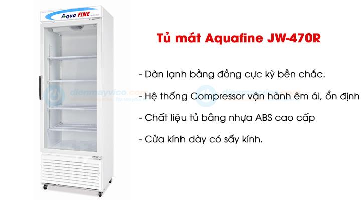Mẫu tủ mát 1 cánh kính Aquafine JW-470R