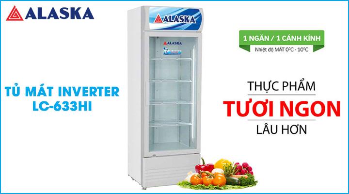 Tủ mát Inverter Alaska LC-633HI trang bị hệ thống làm lạnh nhanh sâu và tiết kiệm điện năng