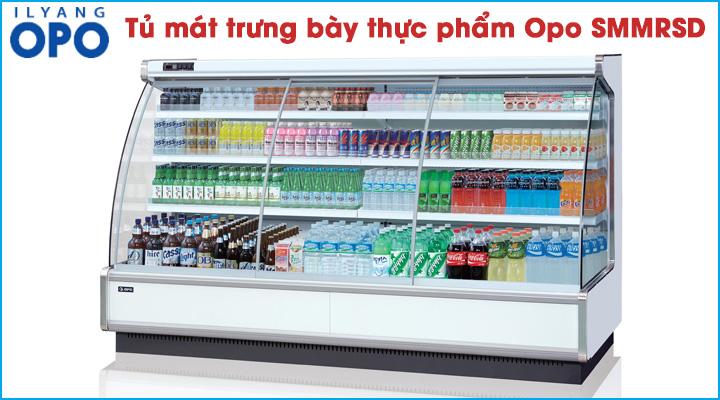 Mẫu tủ mát trưng bày thực phẩm Opo SMMRSD