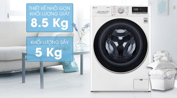 Máy giặt sấy LG FV1408G4W tich hợp 2 chức năng trong cùng 1 sản phẩm