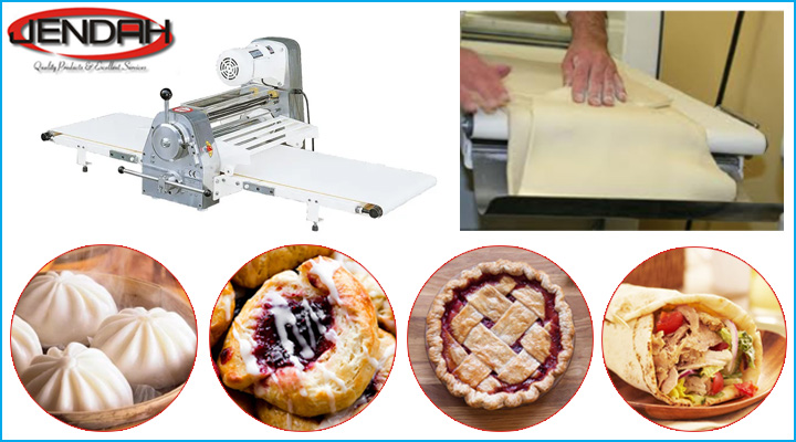 Máy cán bột Jendah DSC-520A cán được bột cho nhiều loại bánh khác nhau