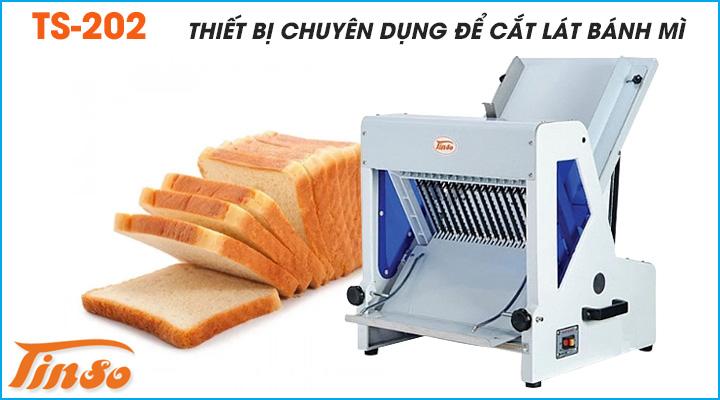 Máy cắt bánh mì Tinso TS-202 là thiết bị chuyên dùng để cắt lát bánh mì