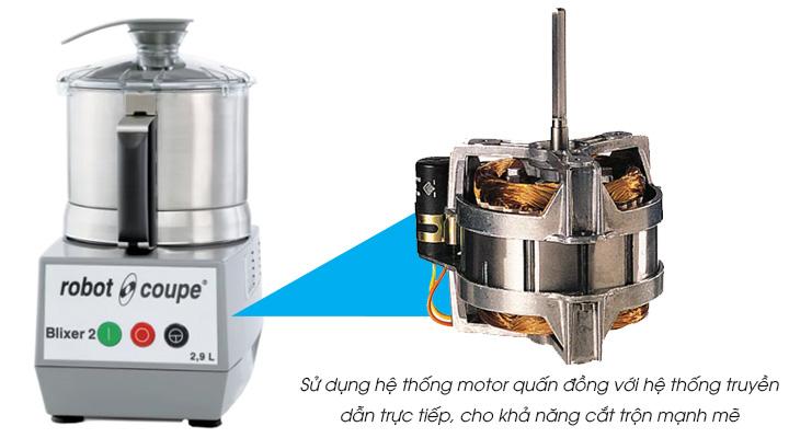 Máy cắt trộn thực phẩm Robot Coupe BLIXER 2 trang bị hệ thống mô tơ mạnh mẽ