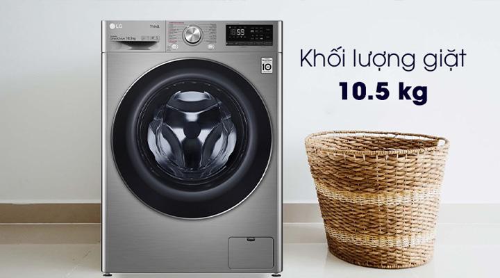 Máy giặt LG FV1450S3V có thiết kế đẹp mắt, khối lượng giặt 10.5kg