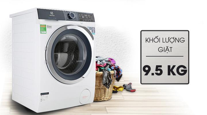 Máy giặt Electrolux EWF9523BDWA có khối lượng giặt 9.5kg