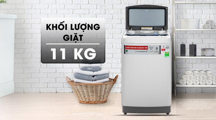 Máy giặt LG Inverter TH2111SSAL có khối lượng giặt 11kg